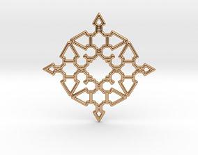 Arrow Mandala Pendant 3D printable model
