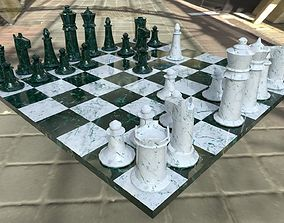 Marble Chess Set 3D