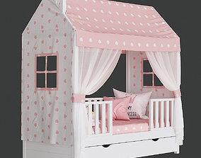 3D model Childrens Bed House Lund Premium