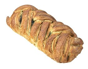 Photorealistic Spinach Strudel 3D Scan