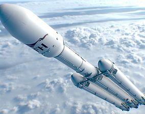 Rocket - Falcon Heavy 3D model