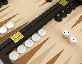 compete Backgammon 3D model