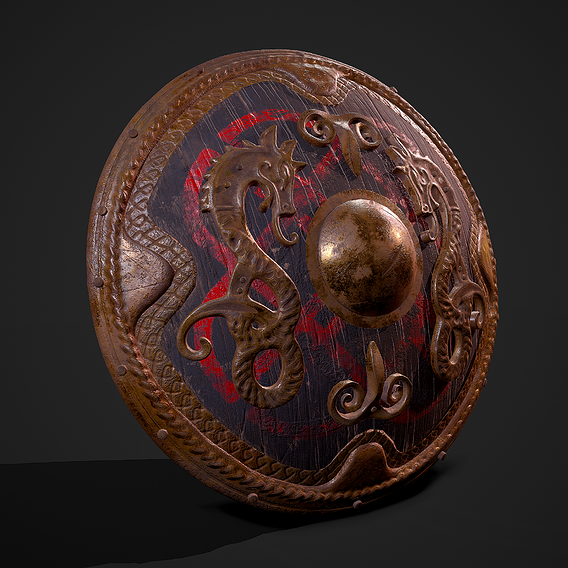 Dragon Viking Shield
