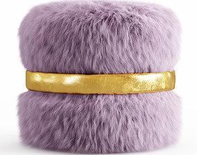 3D Layton Ottoman Fur