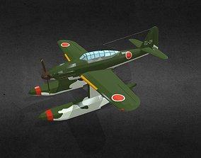 3D model game-ready Aichi M6A Seiran