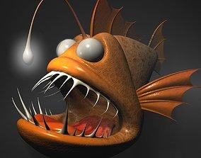 Cartoon Anglerfish RIGGED and ANIMATD 3D asset