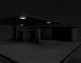 3D model gasoline Gas Station