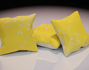 3D model Contemporary colourful cushion design 4