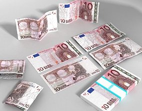 10 Euro Paper Money 3D model