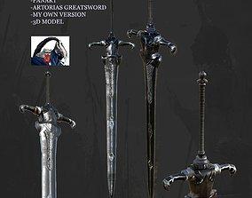 3D asset Sword Artorias