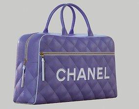 3D model CHANEL Vintage Logo Bowler Bag Quilted Lambskin 1