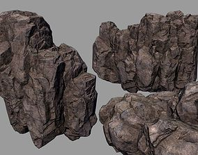 realtime rocks stones Low-poly 3D model