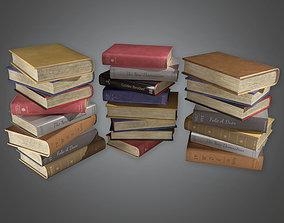 Books Stack HVM - PBR Game Ready 3D asset