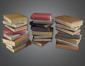 3D asset Books Stack HVM - PBR Game Ready