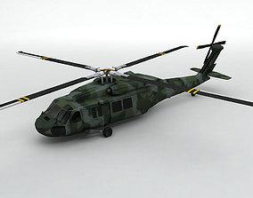 UH 60 Blackhawk Helicopter -2 3D model