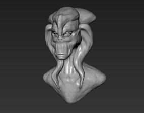 Alien Bust 6 3D printable model