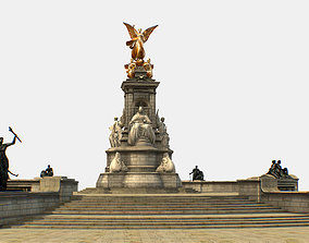 Queen Victoria Memorial Lowpoly 3D model low-poly