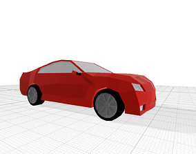 Low poly car gameready 3D asset low-poly