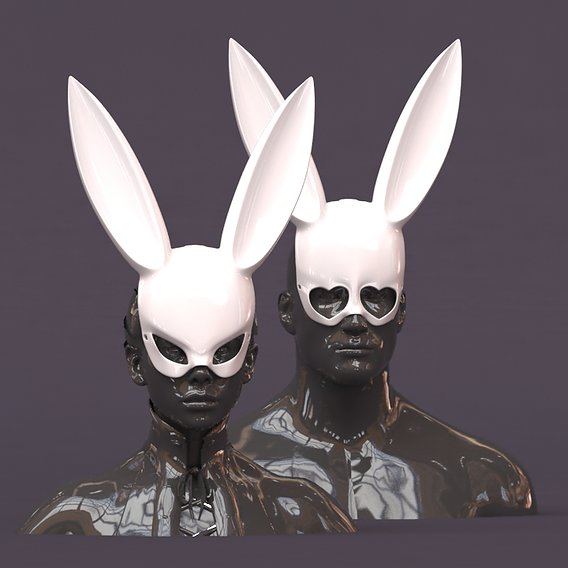 Rabbit Masks for Print