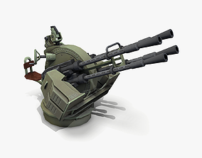 3D model ZPU-4 Anti-aircraft Gun lowpoly