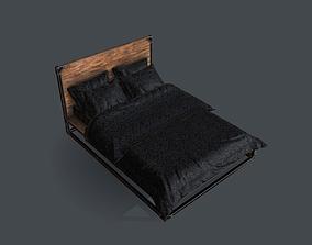 Industrial Style Queen Bed 3D asset