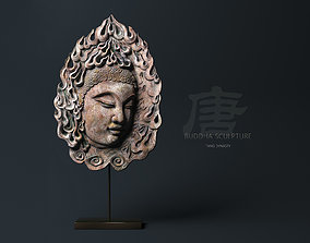 The Buddha head of the Tang Dynasty in China 3D model