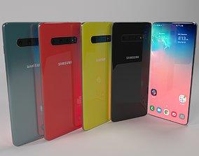 3D model mobile Samsung Galaxy S10
