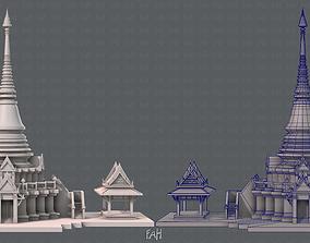 3D asset Pagoda V01