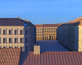 Street Facade Residantial Building Set 3D