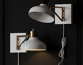 Berkeley White and Brass Plug-In 3D model