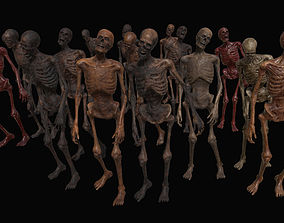 3D model Skeleton Zombies