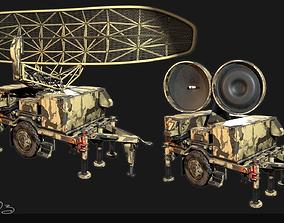 3D model Low Poly PBR Sentinel Radar - Bundle