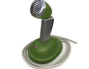 Retro microphone 02 3D model