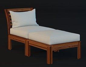 Ikea Applaro Chair With Footstool 3D