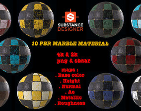 3D PBR Marble Material Free sample