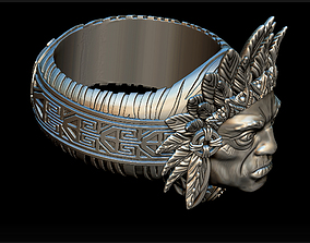 3D printable model Indian ring male