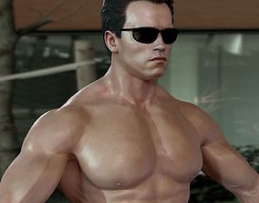 animated 3d model Arnold Schwarzenegger