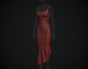 Satin dress 3D