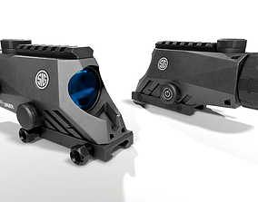 Sig Sauer Bravo4 4x30mm Wide Field Battle Sight 3D asset