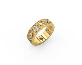 Cartier Love Ring with Diamonds Pave 3D print model