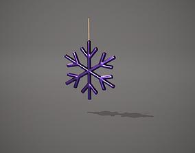 Purple Snowflake Decoration 3D model