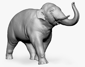 3D print model Asian elephant figurine