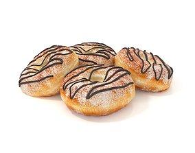 toast Donuts 3D model