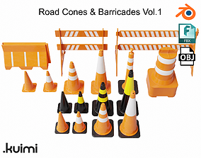 3D Road Cones and Barricades Vol 1