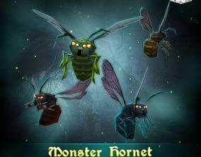 Monster Hornet 3D asset