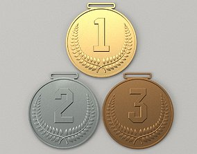 Set of sports Olympic medals 3D print model