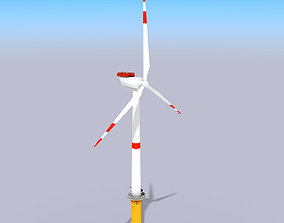 renewable 3D asset VR / AR ready Wind Turbine