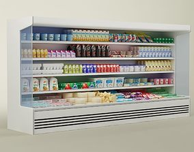 Store display refrigerator freezer 02 eggs 3D model
