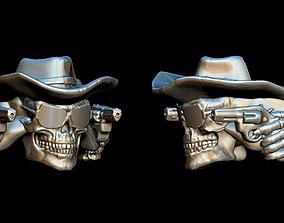 3D print model cowboy skull