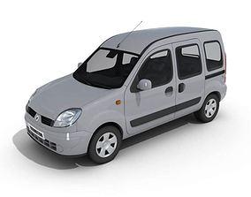 3D model Minivan Gray Car